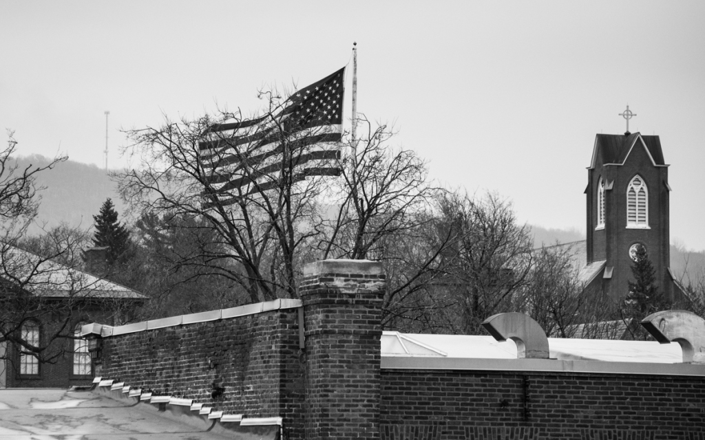 The Flag in Taylor Park - St. Albans Vermont