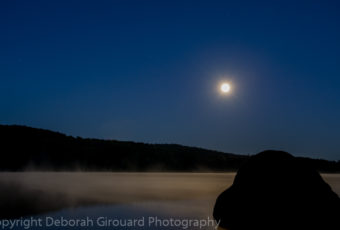 September Full Moon Ricker Pond, Groton Vermont