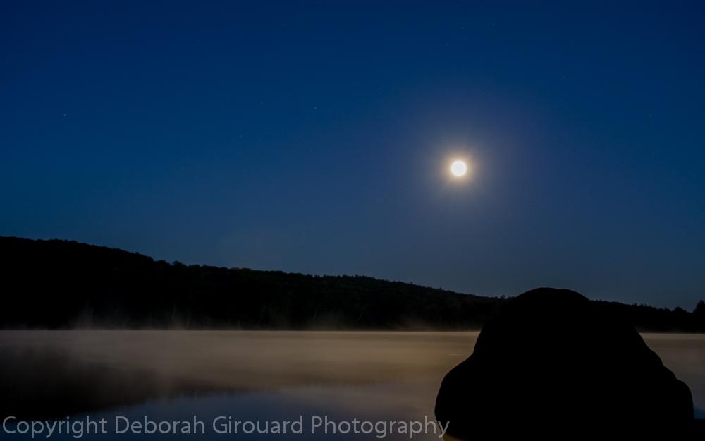 September Full Moon Ricker Pond, Groton Vermont